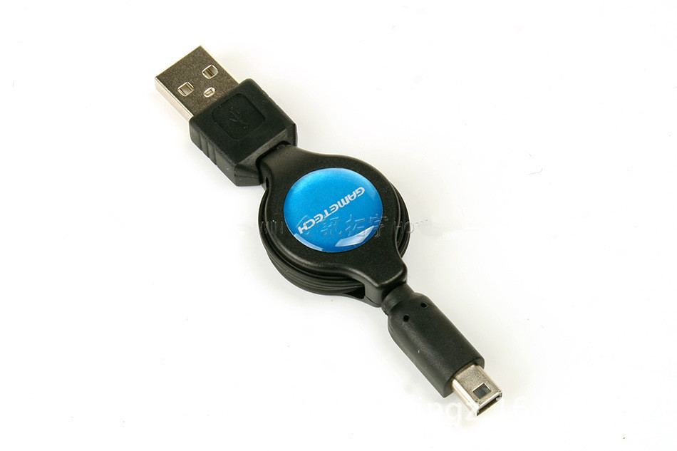 Retractable USB Data Charger Charging Cable for 3DS NEW3DS DSi NDSi new3DSXL 75CM Cable