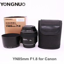 Buy YONGNUO YN85mm F1.8 Camera Lens AF/MF Standard Medium Prime Fixed Telephoto lens Canon EF Mount EOS 7DII 700D Rebel cameras for $169.40 in AliExpress store