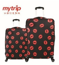 Free Shipping 2016 New Travel Luggage Suitcase Protective Cover Stretch Apply to 18 20 22 24 26 28 30inch Cases kiss pattern(China (Mainland))