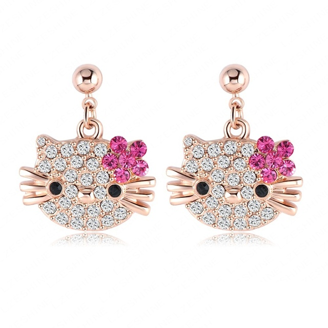 Hello Kitty Gold Plated Earrings