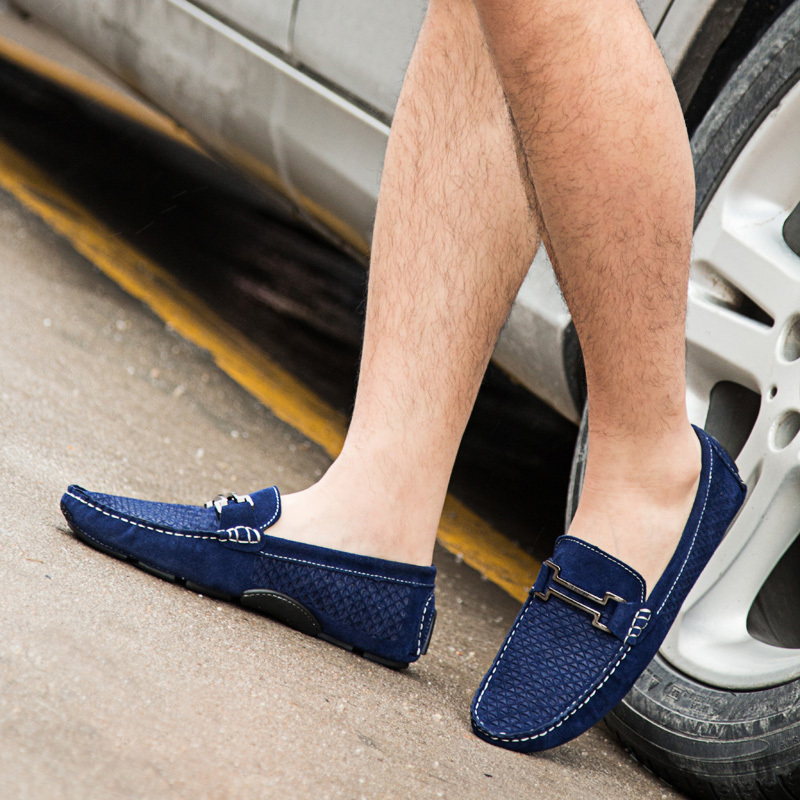 Leather Mens Loafers Formal Shoes 2015 Spring Slip On ...