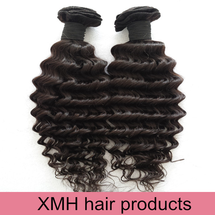 Raw Indian Hair 6a Unprocessed Virgin Indian Hair Extension Indian Deep Wave 100 Human Hair Weave<br>