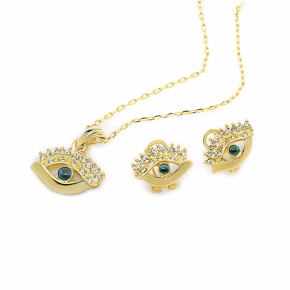 Moose Evil Eye Classic Necklace Pendant Earrings The Middle East Foreign Trade Arabia Islamic boutique(China (Mainland))