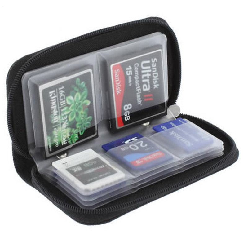 Black Memory Card Storage Carrying Case Holder Wallet For CF/SD/SDHC/MS/DS 3DS Game(China (Mainland))