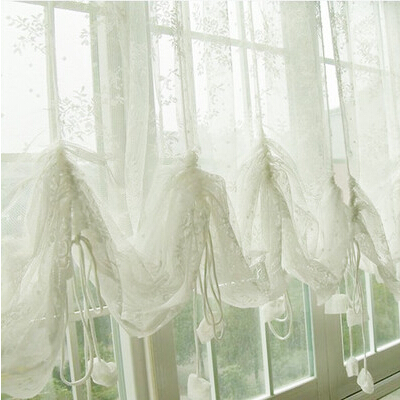 S&V Mordern christmas window curtains white cortinas sheer tulle short drapes for living room bedroom door embroidery curtains.(China (Mainland))