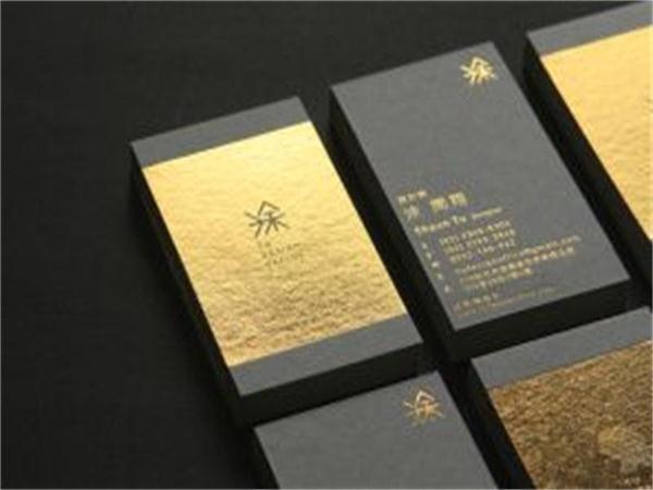 New Custom Gold Foil Business Cards 600gsm Black Cardboard