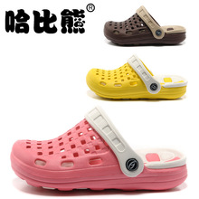 2014 HABI BEAR Children's Mules Clogs Slipper Kid's Garden Shoes Girls Summer Slipper Boy's Beach Casual Shoes