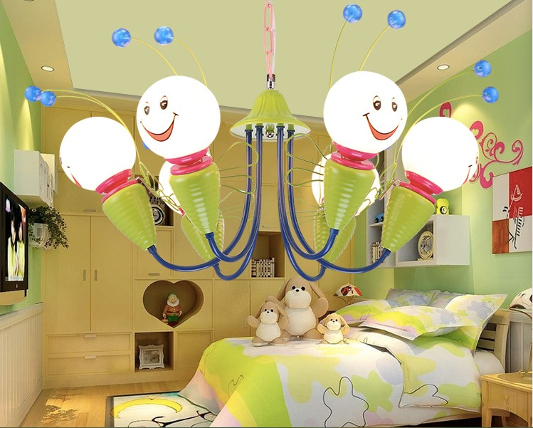 Free Shipping Special simplicity of children creative children room lighting bedroom lamps lampshade 4L/6L Head Pendant(China (Mainland))