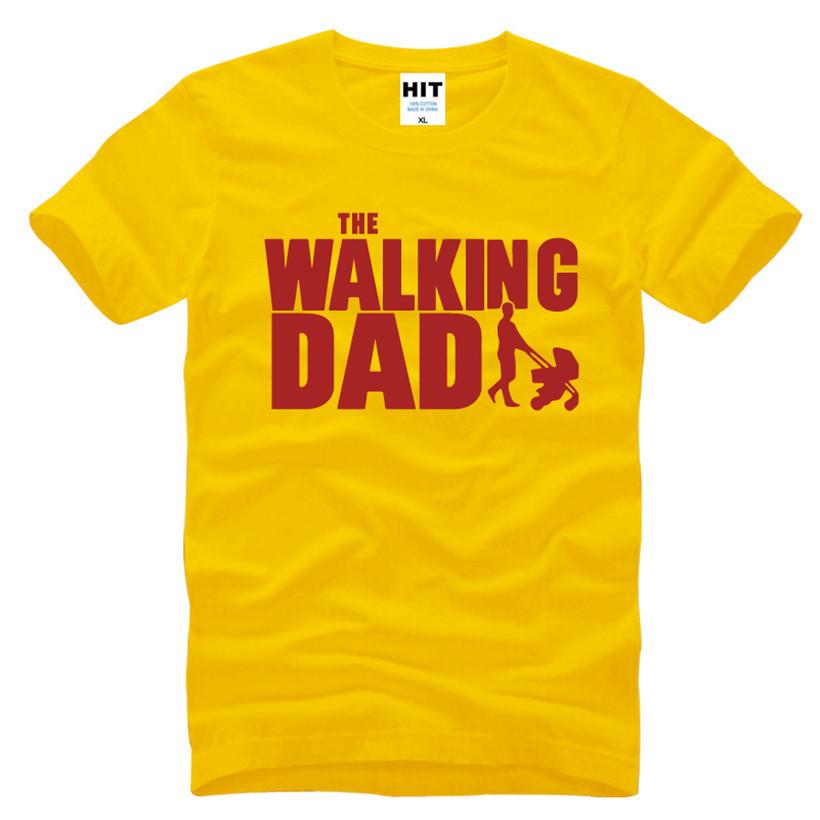 HTB1pQuWKFXXXXcLXpXXq6xXFXXXS - The Walking Dad Fathers Day Gift Men's Funny T-Shirt T Shirt Men 2016 New Short Sleeve Cotton Novelty Top Tee Camisetas Hombre