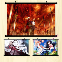 (60x85cm)Holy Grail War Anime Canvas Wall Art Picture Home Decor Room Canvas Print Painting Cartoon Canvas Art