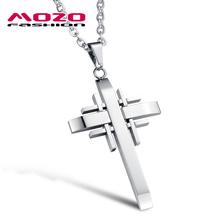 Comercio al por mayor 2016 nueva moda fina joyería fresca de los hombres de acero inoxidable 316L cruz colgante de collar macho accesorios de época MGX941(China (Mainland))