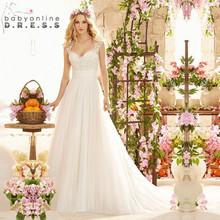 Buy Robe de Mariage Romantic Boho Backless Lace Beach Wedding Dresses 2017 Bohemian Line Wedding Bridal Gowns Vestido de Noiva for $106.77 in AliExpress store