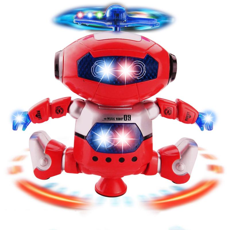 Electronic Robot Toy Dancer Robot Pet 360 Rotating Dance Musical Walk Lighten Birthday Gift Electronic Toy For Children Kids(China (Mainland))