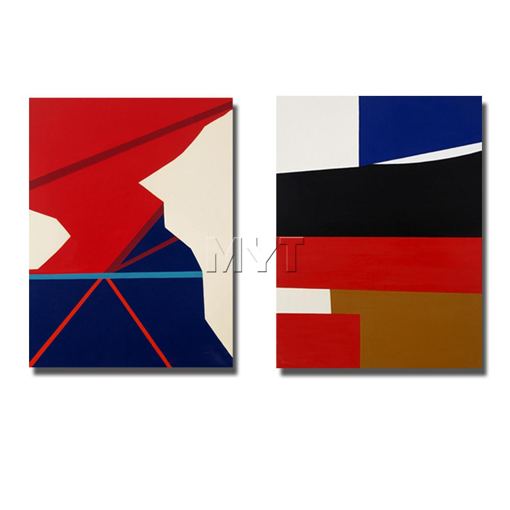 Geometry abstrat picture nice design home decor for bedroom wall decorations hand paint abstract oil painting african art