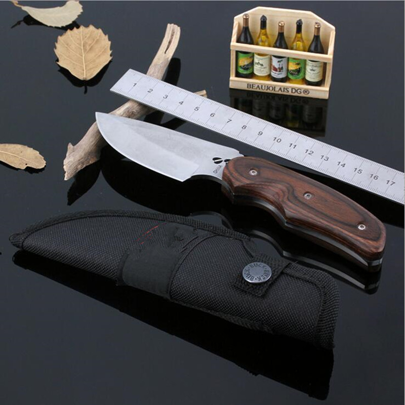 Buy 58RHC Straight Fixed Blade Mini Knife Outdoor Survival Camping 7CR17MOV Knife Diving Stainless Steel Tactical Wood Knife 23 cheap
