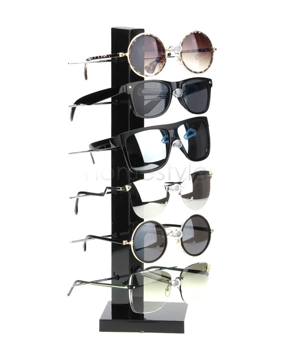 6 Pairs Of Sunglasses Display Stand Elegant Storage Display Stands Rack Holder For Glasses Black 24(China (Mainland))