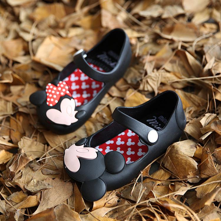 Mini Melissa Crystal Jelly Mickey Summer Girls Sandals Cute Girls Shoes Children Summer Kids Sandals slip-resistant wear-resist(China (Mainland))