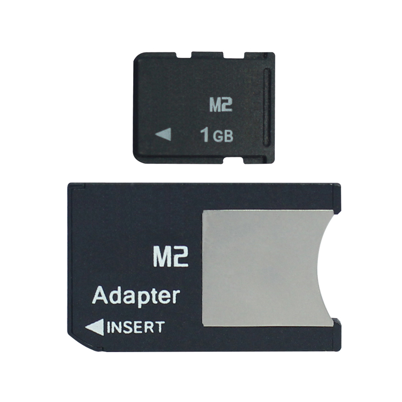 M2 with Adapter Memory Stick Micro into Memory Stick Pro Duo 512MB 1GB 2GB 4GB 8GB MS PRO DUO(China (Mainland))