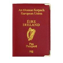 Ierland Leather Case Voor Paspoort Bescherming Case Leuke Vrouwen Reizen Document Organizer Voor Ierland Paspoort Cover Reizen Portemonnee(China)