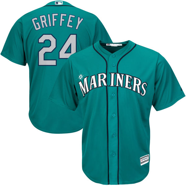 Ken Griffey Jr. Seattle Mariners Majestic 2016 MLB All-Star Cool Base Player Jersey - Northwest Green Baseball Jerseys(China (Mainland))