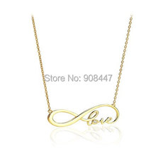 2016 New Fashion Love Jewelry Infinity love letter necklace,eternity necklace, infinity sign necklace, infinity necklace N097(China (Mainland))