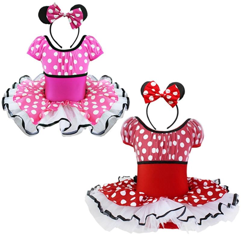 Girls dance ballet dresses baby kids christmas dressing up miss mouse