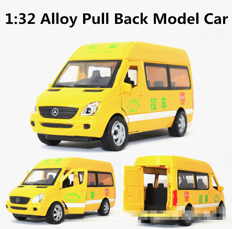 Yellow School Bus, 1:32 alloy Pull back model cars,suv models,Diecast car,free shipping(China (Mainland))