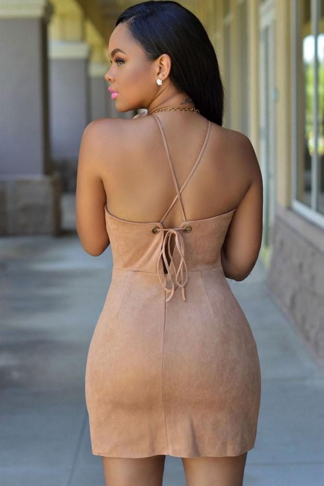 Сексуальные платья новые 2015 женщины для женщин мокко замши faux мини платье lc22408