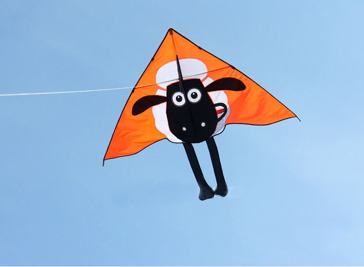 free shipping high quality Shaun the Sheep kite 10pcs/lot with handle line children outdoor flying toys easy kite fabric ripstop<br><br>Aliexpress