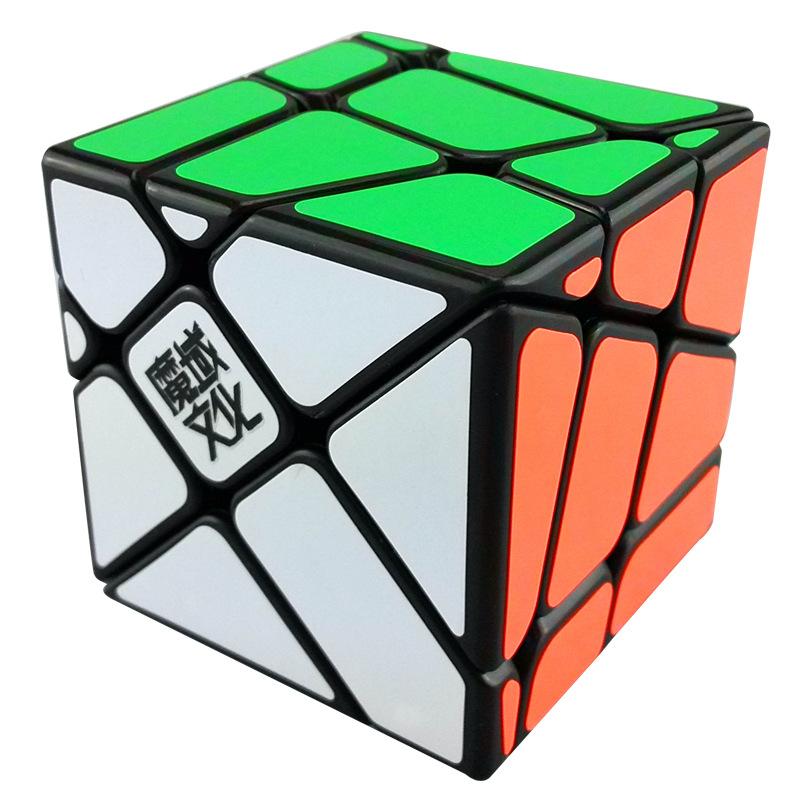 Moyu Windmill Cube Crazy Fisher Speed Puzzle 57 mm Black & White(China (Mainland))