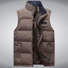 HOT Brand Cotton Padded Man Winter Vest Coats Plus Size XL-4XL  New Pocket Design Mandarin Collar Men Warm Casual Waistcoat(China (Mainland))