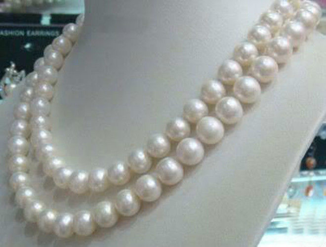 "FREE SHIPPING8-9mm White Akoya Cultured Pearl Necklace 50"" (A0511)(China (Mainland))"
