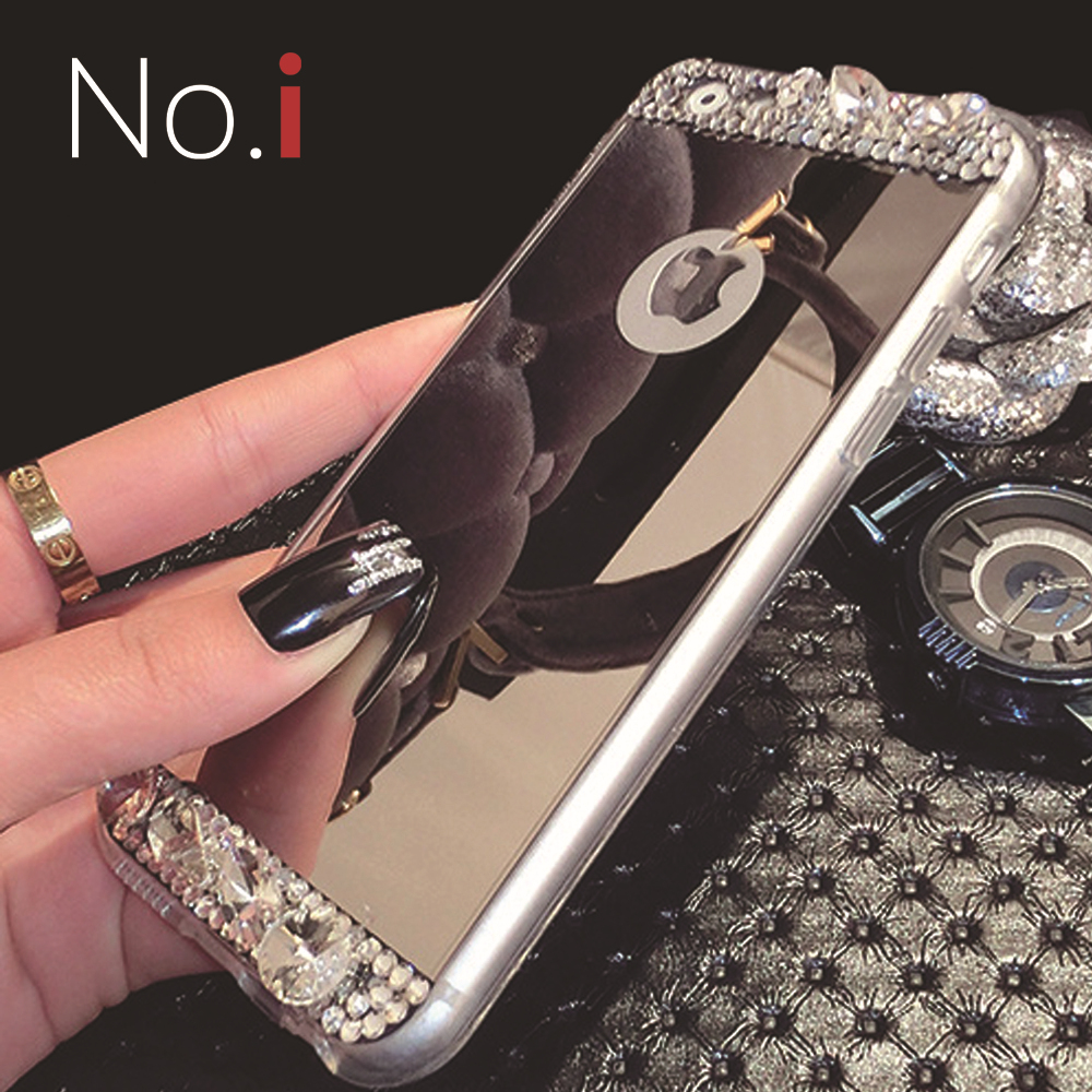 No i Case Glorious Series Soft Crystal Silicone Jewelry Cell Phone Cases for Capa iPhone 6 Luxury Covers Mirror Cases for Women(China (Mainland))
