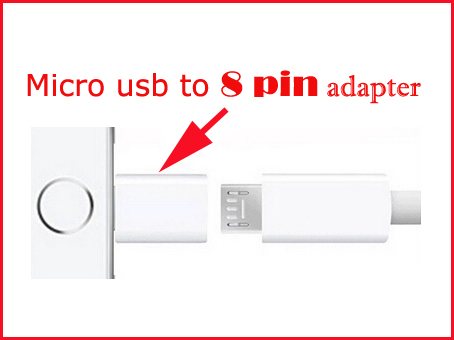 Micro USB Data Sync Charge Connector to 8 pin Convertor Cable Charger Adapter For iPhone 6 plus 5 5S 5C ipad mini air ipod touch
