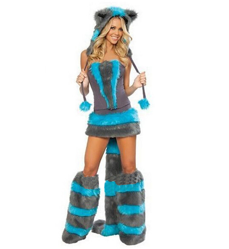 2014 NewBlue Teddy Panda Wolf Girl costumes for Halloween costumes cat ladies clothing exports in Europe and America gamesFree sОдежда и ак�е��уары<br><br><br>Aliexpress