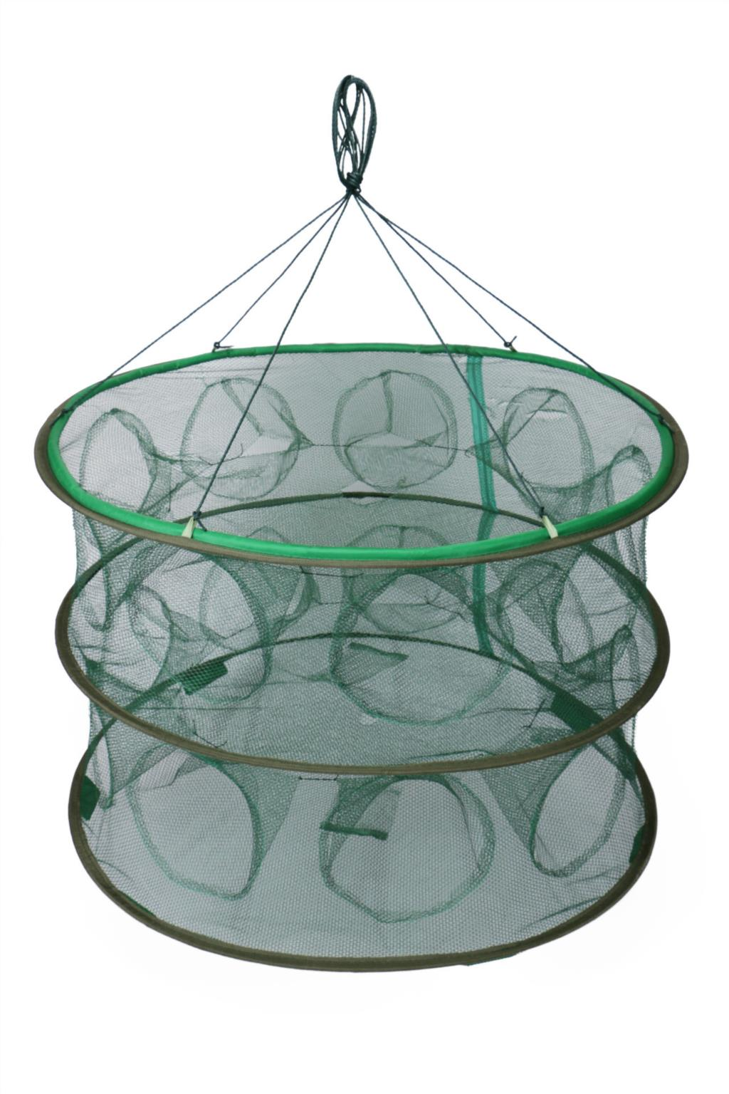 Portable automatic open fishing cages collapsible fishing for Collapsible fishing net