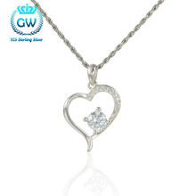 Buy Crystal Heart Pendant Zirconia Romantic Pendant Silver Necklace Lovers Charm Pendant Brand GW Jewelry Pety009 for $10.05 in AliExpress store