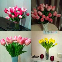 10Pcs/lot Artificial Tulip Simulation Flower Home Decoration Flower Dried Flowers VBL47 P18 0.5(China (Mainland))