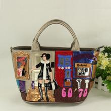 Италия braccialini стиль сумка творческий женщины прекрасны свободного покроя сумки pathwork вышивка девушка bolsos mujer
