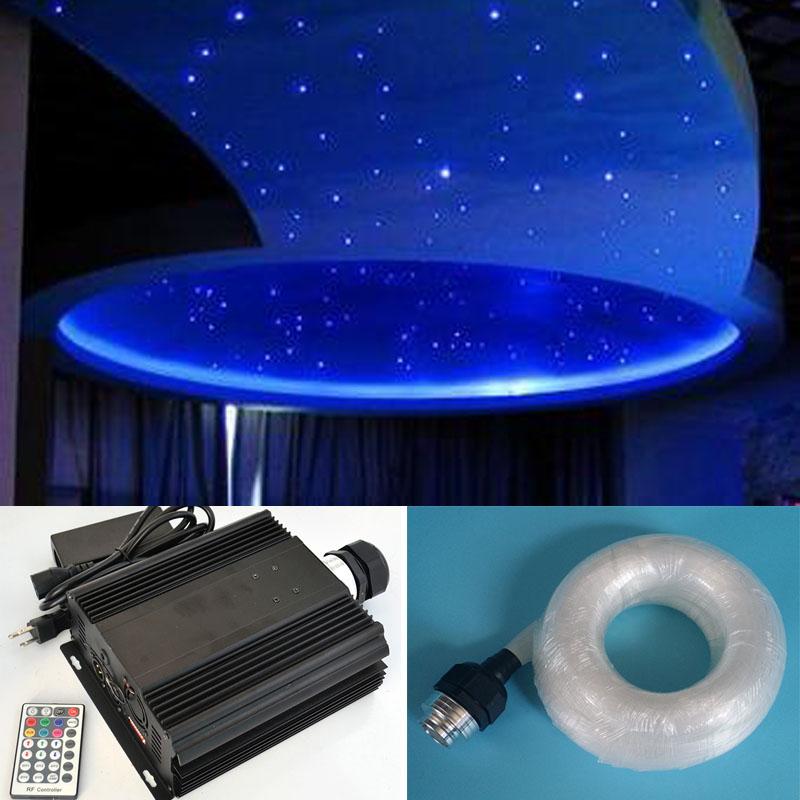 NEW Colorful fiber optic star light ceiling kit light 0.75mm 600pcs*2m optical fiber 45W RGB LED dmx light engine dmx512(China (Mainland))