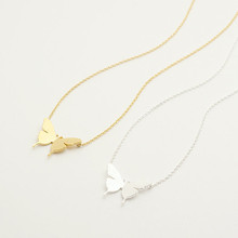 2015 Gold/Silver Stainless Steel Jewlery Bridesmaids Gift Dainty Butterfly Charm Chain Necklaces