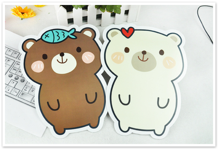 Computer Accessories High Quality Durable EVA Mouse Pad Korean Style Cartoon Cute Bear Mouse Pad Laptop PC Common Use 5Pcs/Lot(China (Mainland))