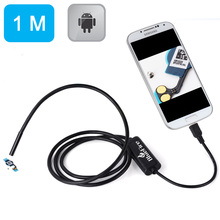 NEW 1M Android OTG Endoscope 7mm Mini Waterproof Borescope Inspection Tube Pipe Camera for Samsung Galaxy S5 S6 Note 2 3 4