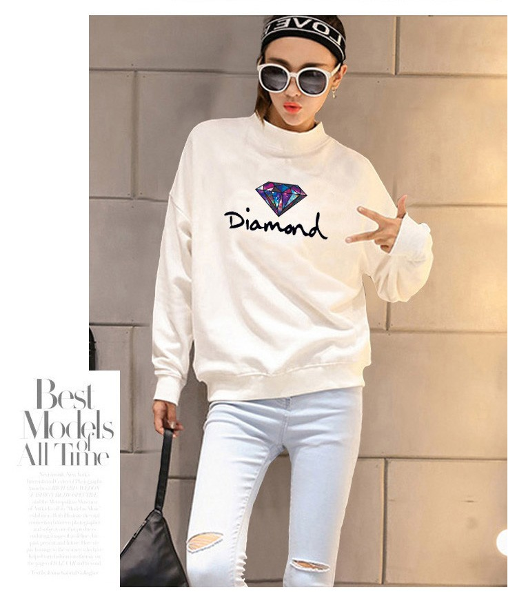 2016 Winter thicken sweater 5 color warm baseball clothing women good quality Size loose do not worry too small Sweaters