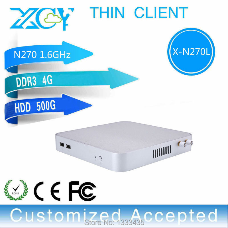 New Arrival! N270 4g Ram 500g Hdd Thin Client Computer Mini With Wifi Embedded Mini Pc Support Linux Ubuntu Thin Client Mini Pc(China (Mainland))