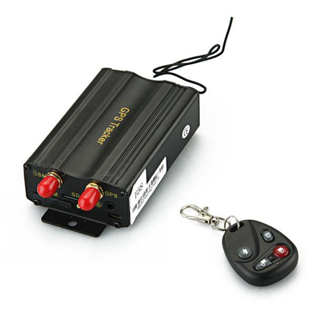 new GPS GSM GPRS Car Vehicle Real Time SMS SOS Tracker Alarm Tracking Black(China (Mainland))
