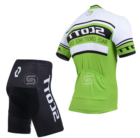 2014 Green cycling jerseys summer short sleeve jersey and bib shorts set ropa ciclismo mtb bike clothing kit(China (Mainland))