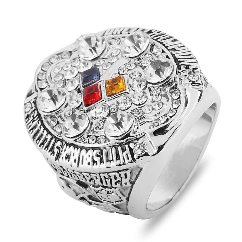 Natural Crystal 2008 Pittsburgh Steelers Super Bowl American Football Men Rings Top Grade Gothic Classic Championship Ring Gifts(China (Mainland))