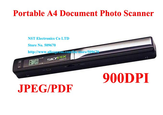Free DHL shipping/1PCS/High Quality Mini Skypix Handheld Handy Portable A4 Document Photo Scanner,900DPI A4 Photo Handy scanner(China (Mainland))