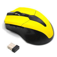 2 4G USB Red Optical Wireless Mouse 5 Buttons for Computer Laptop Gaming Mice